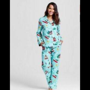 Target Green Curaçao Christmas Pajamas L New